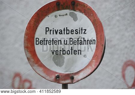No Trespassing Of Private Property Or Private Road