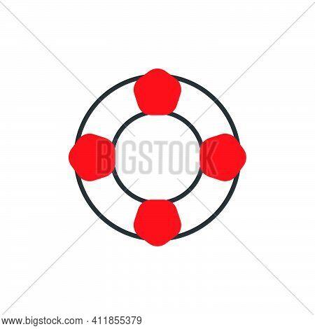 Lifebuoy Icon. Life Preserver Symbol. Logo Design Element