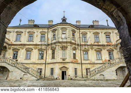 Pidhirtsi Castle, Lviv Region, Ukraine - October, 29, 2020: Pidhirtsi Castle Is A Residential Castle