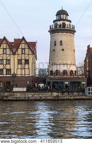 Kaliningrad, Russia, January 02, 2021. The Architecture Of The Fishing Village In Kaliningrad. Fish