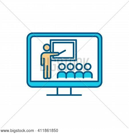 Educational Television Rgb Color Icon. Webcast. Innovative Education. Media Presentation. Innovative
