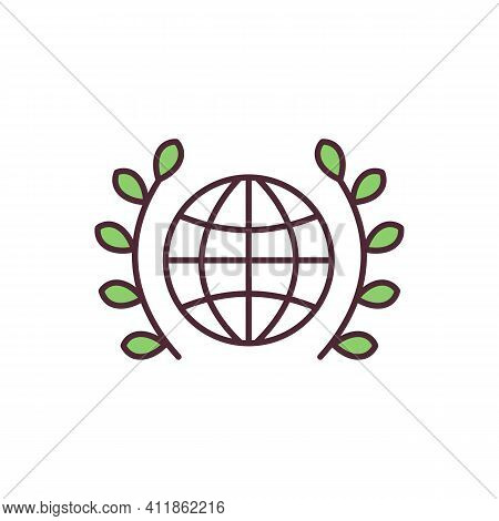 World Peace Rgb Color Icon. Promoting Peaceful Solutions. Global Peacefulness. Achieving Equal Human