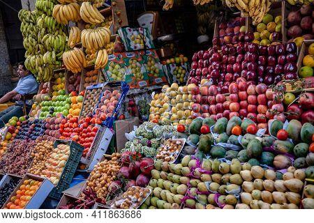 CAIRO, EGYPT - NOVEMBER O3, 2010:  Fruit vendor in Cairo, Egypt