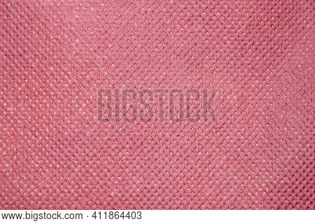 Pink Embossed Paper Texture For Background, Copy Space