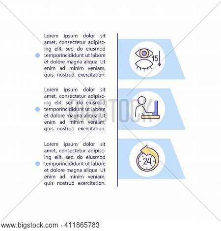 Causes Of Digital Eyes Strain Concept Icon With Text. Discomfort And Vision Problems. Ppt Page Vecto