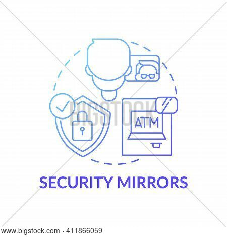 Security Mirrors Concept Icon. Avoiding Theft And Scammers Idea Thin Line Illustration. Helping To P