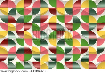 Abstract Background From Geometric Shapes. Stylish Modern Wallpaper. Template For Design Of Advertis