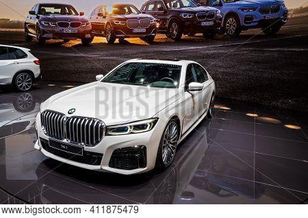 Bmw 7-series Car Showcased At The 89th Geneva International Motor Show. Geneva, Switzerland - March
