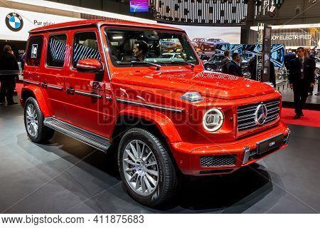 Mercedes-benz G 350 D Car At The 89th Geneva International Motor Show. Geneva, Switzerland - March 5