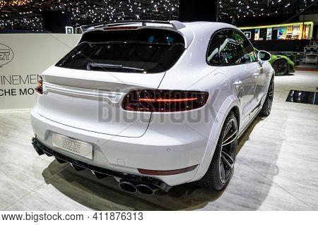 Porsche Cayenne Turbo S Magnum By Techart Customized Car At The 89th Geneva International Motor Show