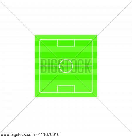 Stadion Icon. Football Soccer Background. Design Element