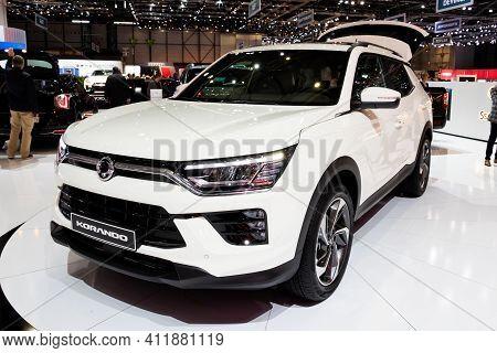 Ssangyong Korando Car At The 89th Geneva International Motor Show. Geneva, Switzerland - March 6, 20