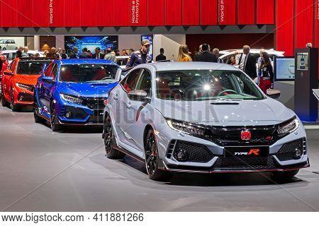 Honda Civic Type-r Cars At The 89th Geneva International Motor Show. Geneva, Switzerland - March 6,