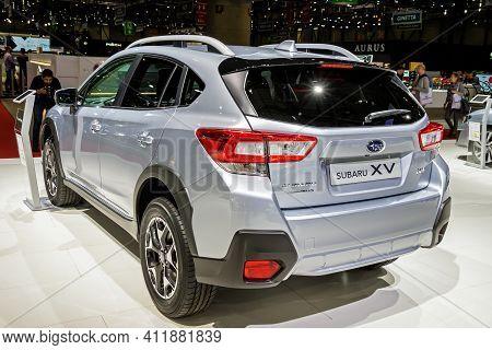 Subaru Xv Car At The 89th Geneva International Motor Show. Geneva, Switzerland - March 6, 2019.