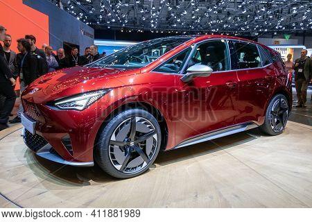 Geneva, Switzerland - March 6, 2019: New Seat El-born Concept Car Debuts At The 89th Geneva Internat