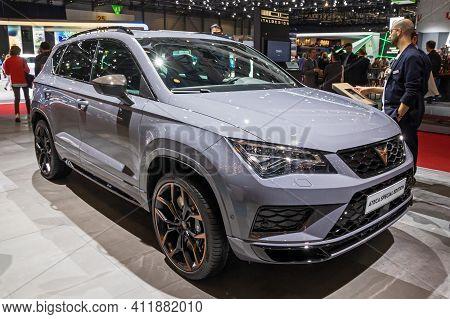 Seat Ateca Special Edition Car At The 89th Geneva International Motor Show. Geneva, Switzerland - Ma
