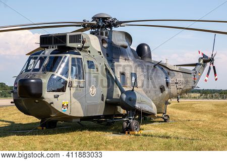 Nordholz, Germany - Jun 14, 2019: German Navy Sikorsky S-61 Sea King Search And Rescue (sar) Helicop