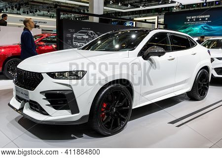 Frankfurt, Germany - Sep 10, 2019: New 2020 Great Wall Motors Wey-gt Pro Car Showcased At The Frankf