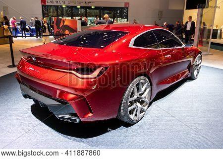 Frankfurt, Germany - Sep 10, 2019: Bmw Concept 4 Coupe Car Reveiled At The Frankfurt Iaa Motor Show