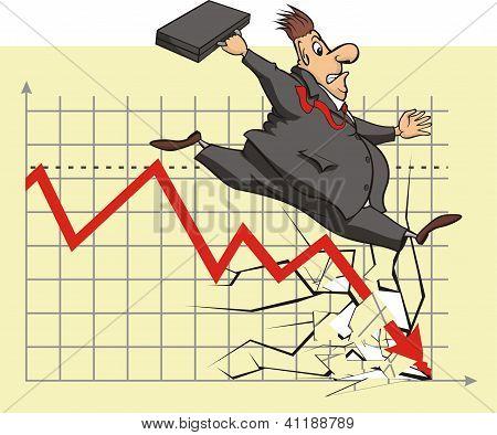 unhappy stock market investor