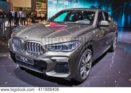 Frankfurt, Germany - Sep 11, 2019: New Bmw X6 Car Model Showcased At The Frankfurt Iaa Motor Show 20