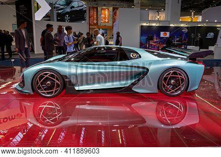 Frankfurt, Germany - Sep 11, 2019: Hongqi S9 Supercar Presented At The Frankfurt Iaa Motor Show 2019