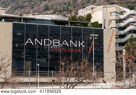 The Headquarters Building Of The Andbank Private Bankers Building In Andorra La Vella