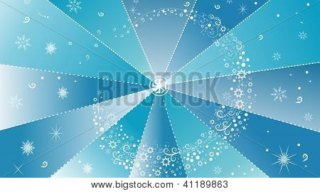 Winter abstract background with snowflakes
