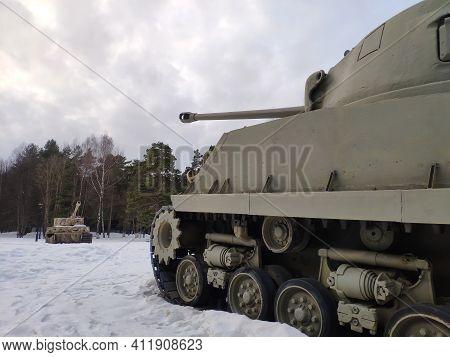M4a2 Sherman Tank. Main American Medium Tank Of The World War Ii Period