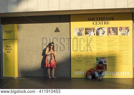 London, Uk - 20 September 2020, South Bank Centre, A Multi Venue Cultural Hub Hosting Music , Live P