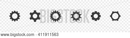 Setting Icon. Gear Icon Set. Setting Gears. App Settings Button. Vector Illustration