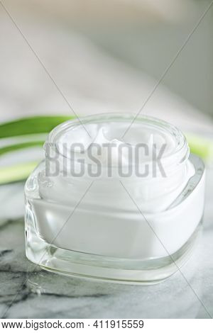 Face Cream Moisturiser As Morning Skin Care Routine, Luxury Cosmetics And Skincare Closeup