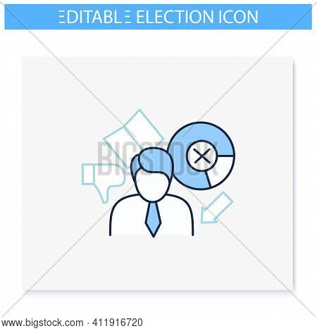 Election Loser Line Icon. Not Chosen Candidate, Applicant. Choice, Vote Concept. Democracy. Parliame