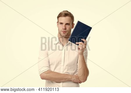 Keep Studying. Thirst Of Knowledge. College Student. Interesting Thoughts. Businessman Hold Book. Re