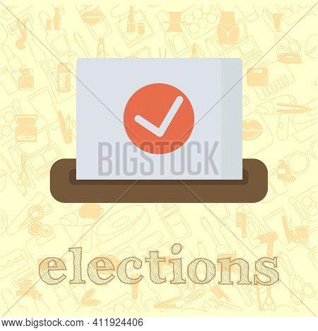 Ballot Vector Flat Illustration, Ballot Policy Vector Illustration