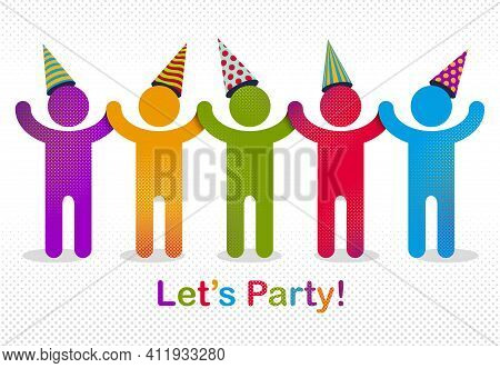 Celebrating People Vector Concept Simple Illustration Or Icon, Celebration Anniversary Or Holiday Fu