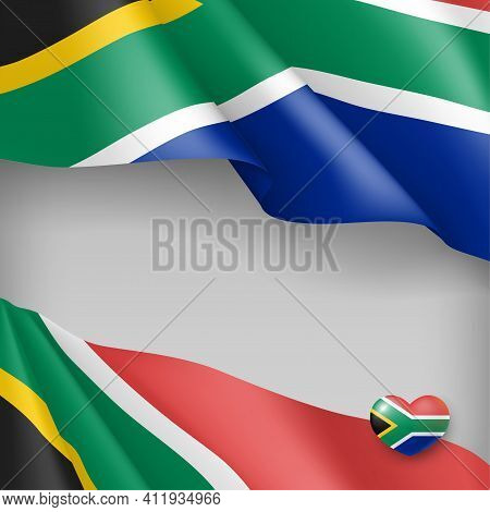 Independence Day Patriotic Background. South Africa Reconciliation, Freedom Day Celebration Banner,