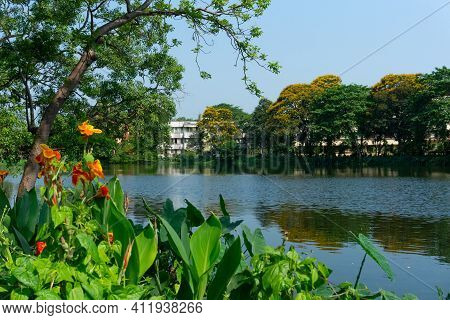 Howrah,west Bengal,india- 22nd April 2019 : Beautiful Scenic View Of College Campus Of Indian Instit