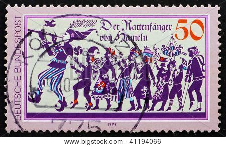 Postage Stamp Germany 1978 Pied Piper Of Hamelin