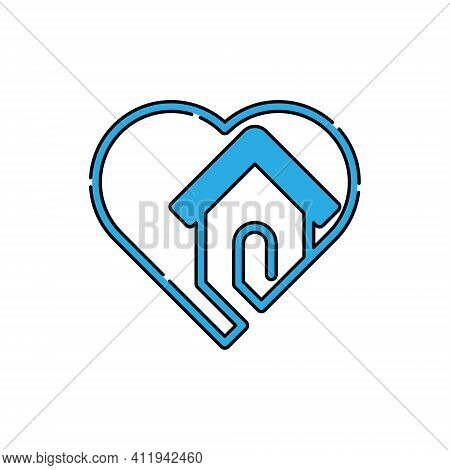 Home with heart shape Logo Icon Vector design. Home. Home Logo. Real estate logo. Property logo. House Logo. Home vector, Home Logo vector, Home symbol, Home sign, Home Logo design. House Logo icon vector. Home icon isolated on white background