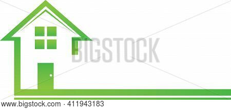 Green Real Estate House Graphic Logo Template