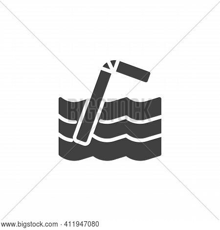 Plastic Straw Pollution Vector Icon. Filled Flat Sign For Mobile Concept And Web Design. Plastic Str