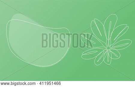 Nature Template Presentation Design With Exotic Flower. Template For Web Banner With Botany Plants T