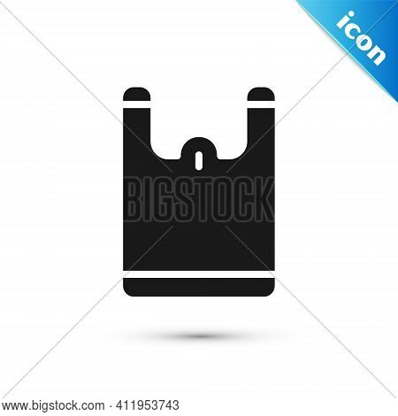 Grey Plastic Bag Icon Isolated On White Background. Disposable Cellophane And Polythene Package Proh