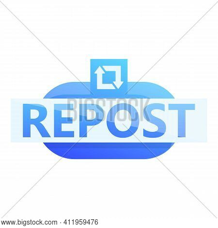 Repost Millennial Icon. Cartoon Of Repost Millennial Vector Icon For Web Design Isolated On White Ba