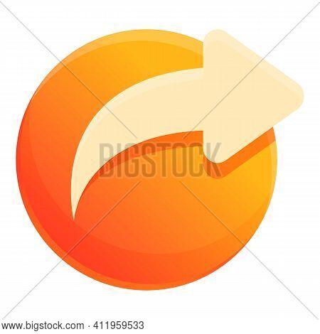 Repost Social Icon. Cartoon Of Repost Social Vector Icon For Web Design Isolated On White Background