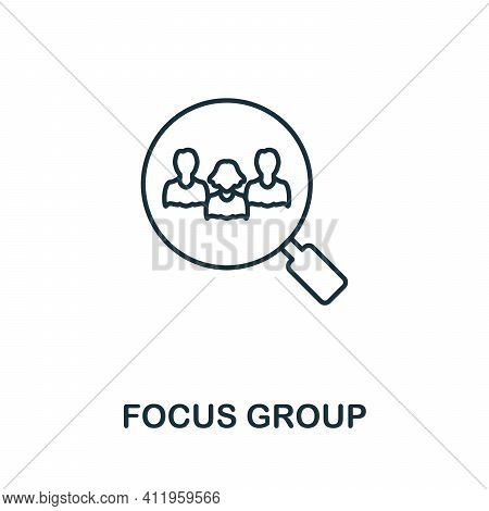 Focus Group Icon. Simple Element From Team Building Collection. Creative Focus Group Icon For Web De