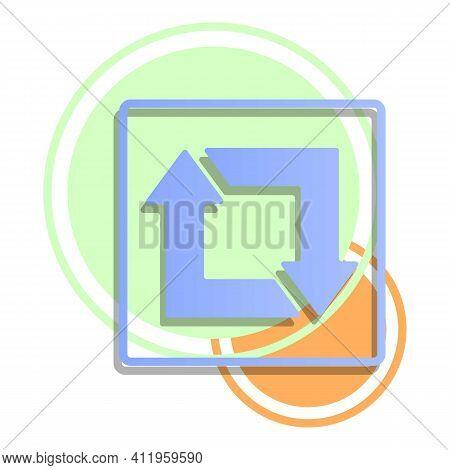 Repost Smartphone Icon. Cartoon Of Repost Smartphone Vector Icon For Web Design Isolated On White Ba