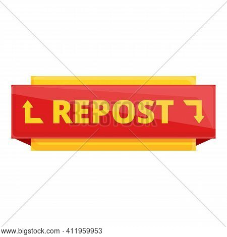 Repost Referral Icon. Cartoon Of Repost Referral Vector Icon For Web Design Isolated On White Backgr
