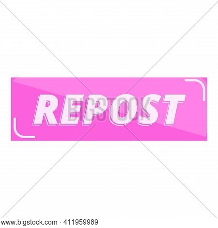 Repost User Icon. Cartoon Of Repost User Vector Icon For Web Design Isolated On White Background